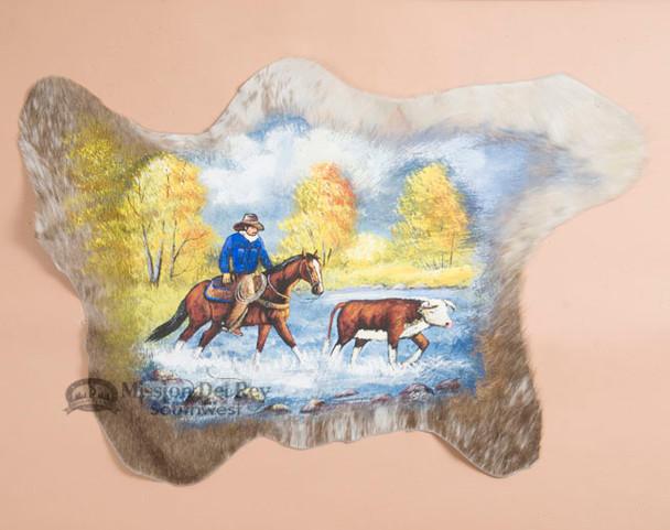 Painted Cowhide - Stray Steer