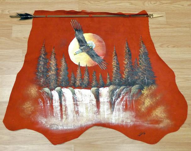 Painted Hide w/ Arrow - Soaring Eagle