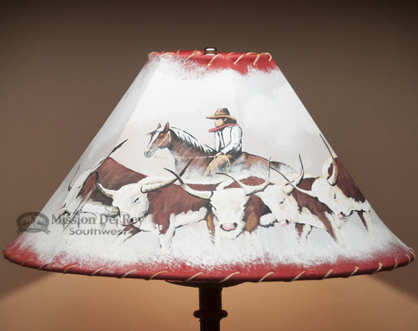 """Painted lampshade - Cattledrive 18"""""""