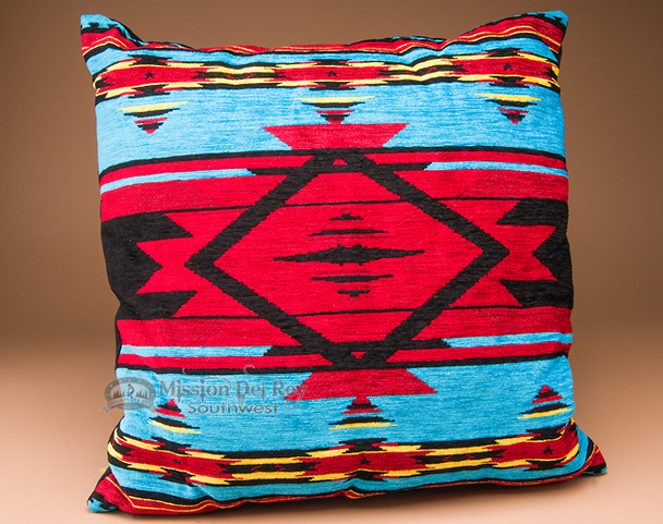 Southwestern Designer Pillow 20x20 -Pueblo Turquoise