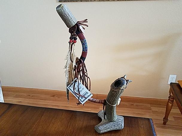 Navajo Beaded Antler Pipe