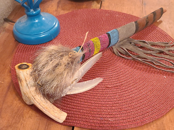 Genuine Antler Bowl Apache Indian Peace Pipe