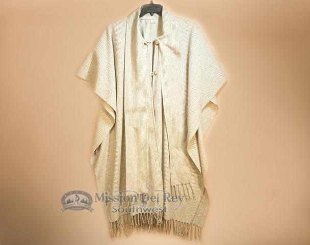Classic Oaxaca Wool Button Down Cape