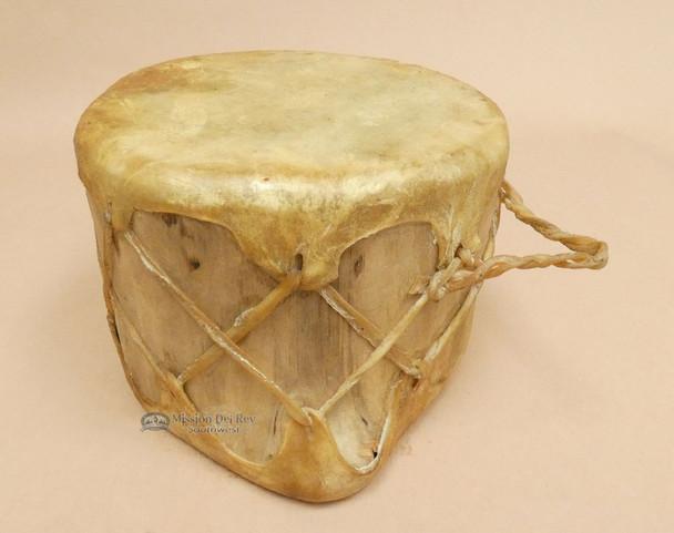 Native Tree Log Drum w/ Natural Rawhide