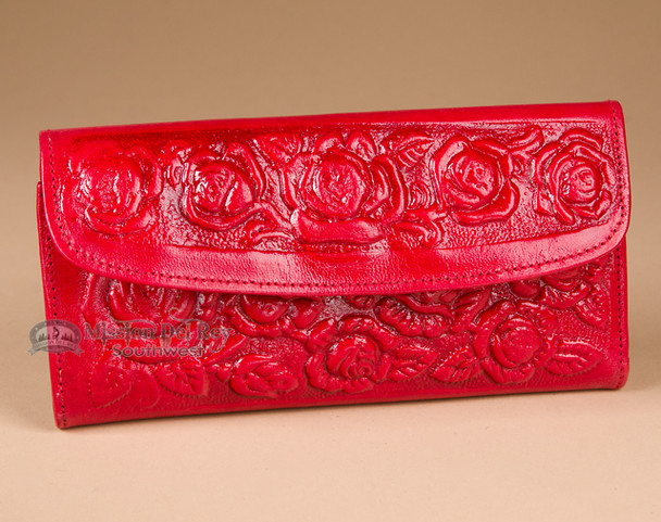 Southwest Embossed Roses Handbag Wallet