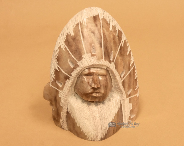 Navajo Alabaster Carving - Chief
