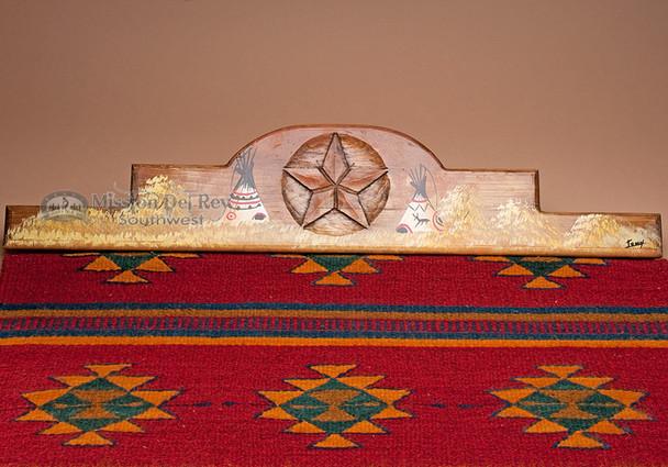 """Southwest Zapotec Rug Wall Hanger 30"""" -Teepee (RH25)"""