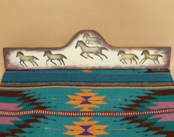 Hand Painted Rug Hanger - Cave Art Horses