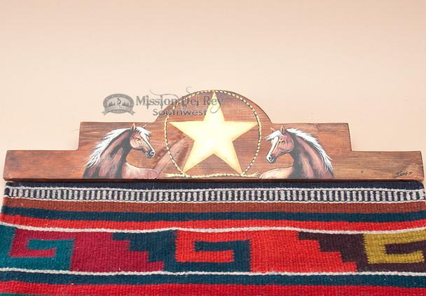 "Western Zapotec Rug Wall Hanger 30"" -Horse (RH32)"