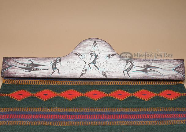 "Hand Painted Wooden Rug Hanger 30"" -Kokopelli (rh42)"
