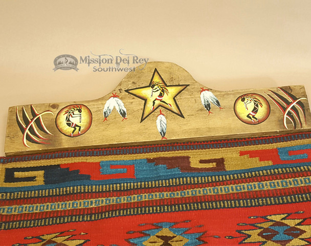 "Hand Painted Southwest Rug Hanger 30"" -Kokopelli"