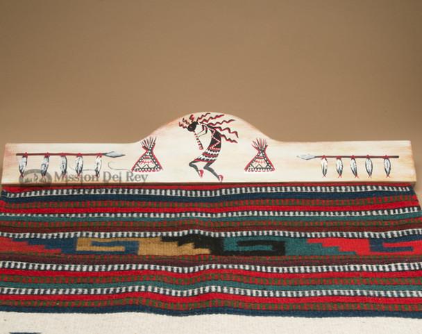 Southwestern Painted Rug Hanger - Kokopelli