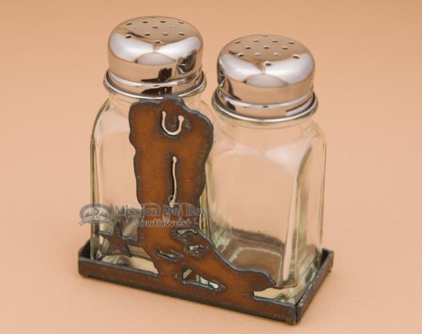 Metal Salt and Pepper Shaker - Boot