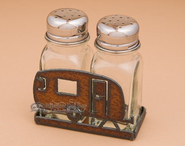 Metal Salt and Pepper Shaker - Camper