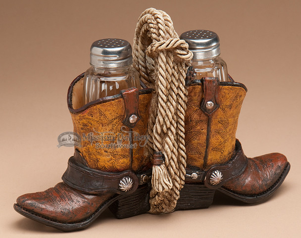 a17b4f999ef Western Salt & Pepper Shakers -Cowboy Boots & Rope