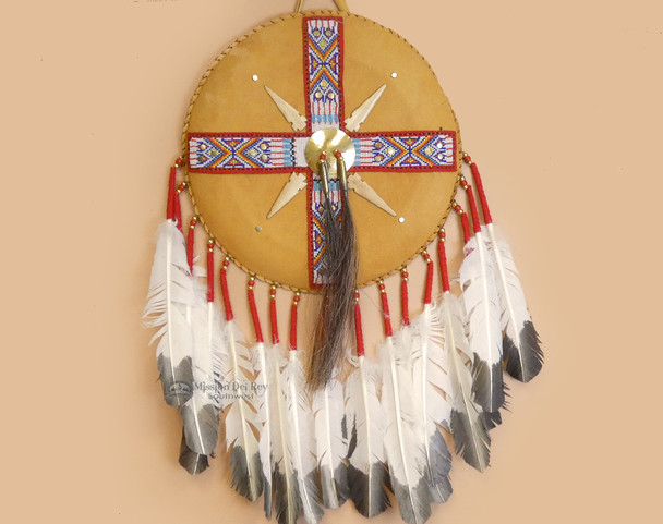 Old Style Native American Leather Shield
