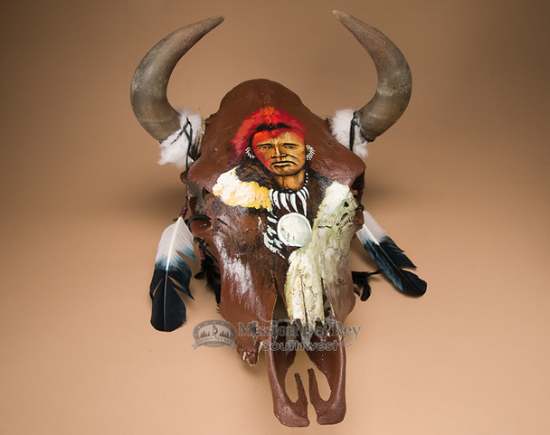 Steer Skull Painted - Warrior