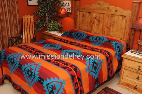 Tesuque Bedspread Back Side View