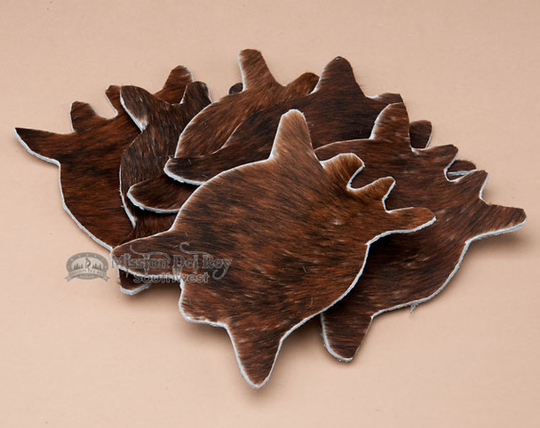Genuine Cowhide 6 piece set of Coasters - Brindle