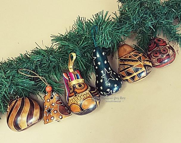 6 Piece Andean Gourd Ornament Set