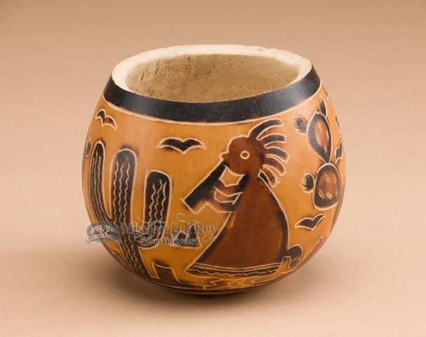 Southwestern gourd art vase
