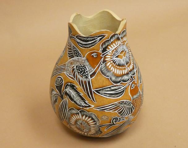 Natural Gourd Etched Vase