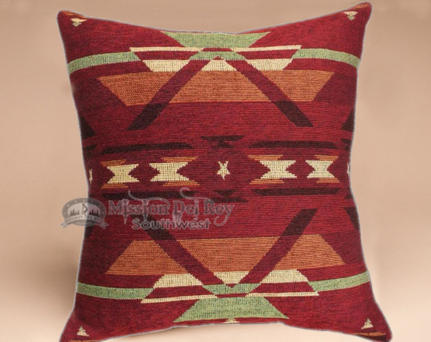 Southwestern style plush pillow -Pueblo Red
