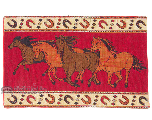 Southwest running horses placemat.