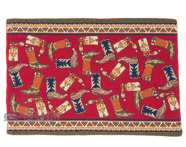 Southwest Tapestry Place Mat - Boots