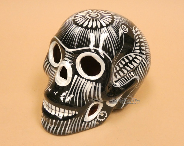 Hand Painted Day Of The Dead Skull