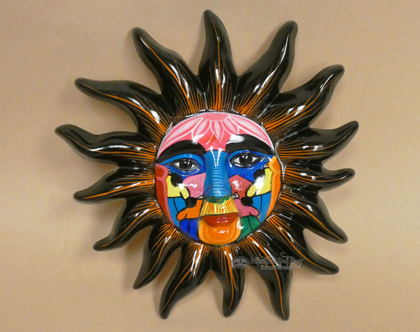 Hand Painted Pottery Wall Sun