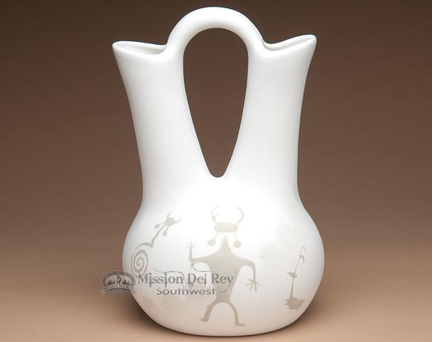 Navajo white wedding vase.