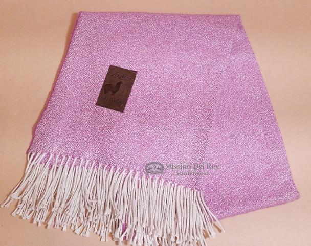 Genuine Alpaca Woven Throw Blanket