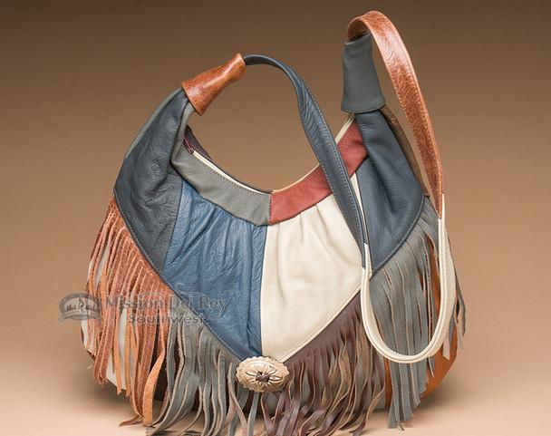 Multicolored Southwestern Leather Purse