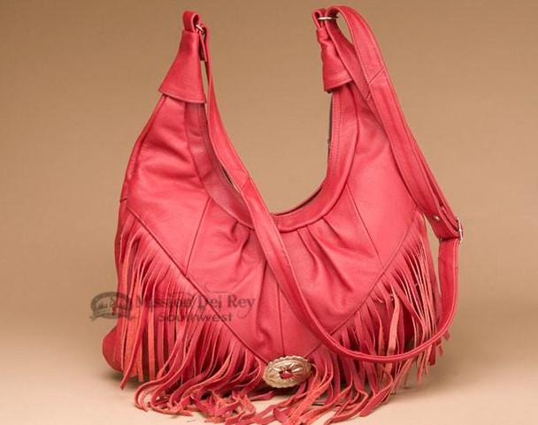 Western Fringed Leather Concho Purse