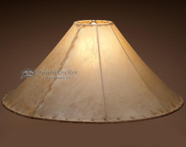 "Southwestern rawhide lamp shade. 24"""