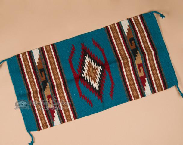 Zapotec Style Southwestern Wool Rug 20x40 (40112)