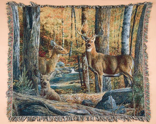 Wildlife Throw Blanket - Deer