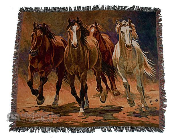Hooves & Heartbeats Western Throw