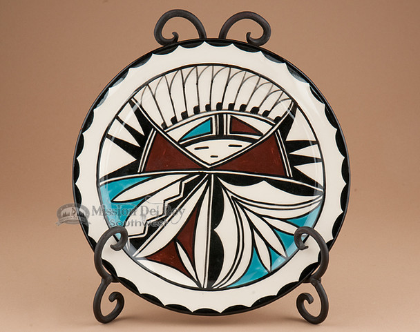 Hand Painted Plate with Gloss Finish