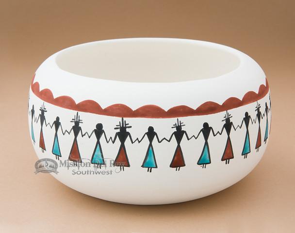 Painted Tigua Bowl - Friendship
