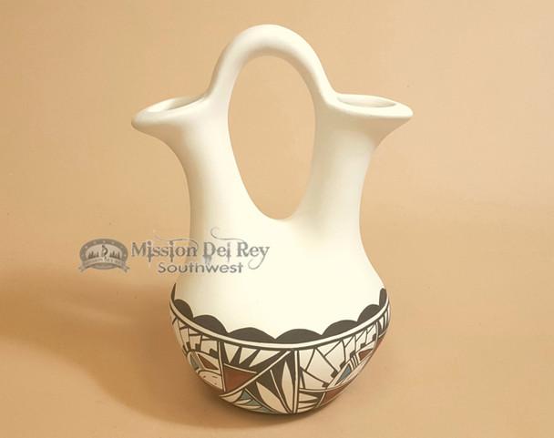 "Native American Tigua Wedding Vase - 9"""