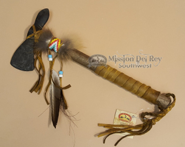 Old Style Native American Beaded Tomahawk