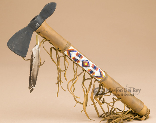 Native Hand Beaded Old Style Tomahawk