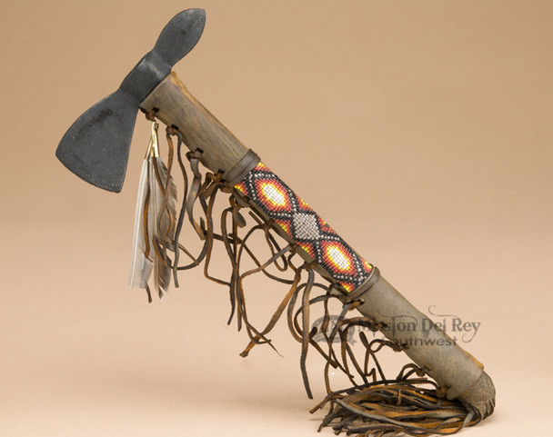 Old Style Antiqued Beaded Tomahawk