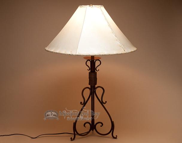Wrought Iron Lamp - Oak Creek