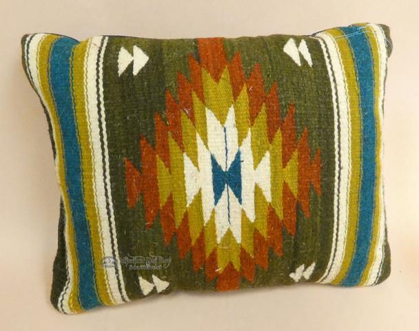 Zapotec Woven Wool Throw Pillow