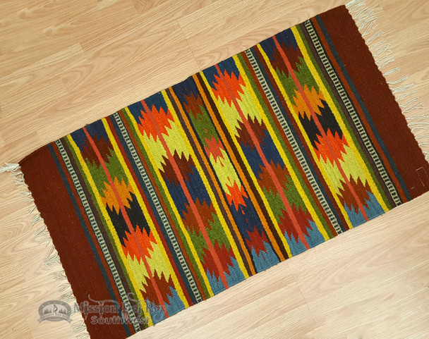 "Zapotec Indian Southwest Area Rug 23""x39"""