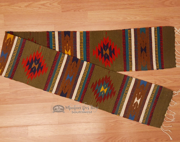 """Zapotec Southwestern Style Table Runner 10""""x80"""" (a29)"""