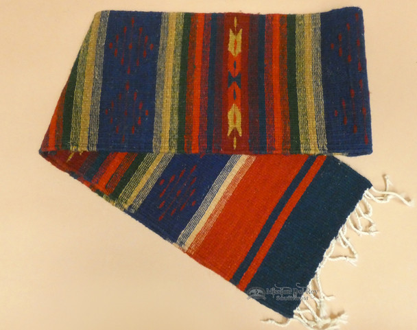 Rustic Zapotec Indian Wool Table Runner